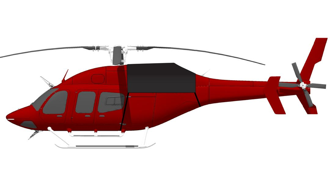 Bell 429 Engine Cover, Aft Section Only, Illustration